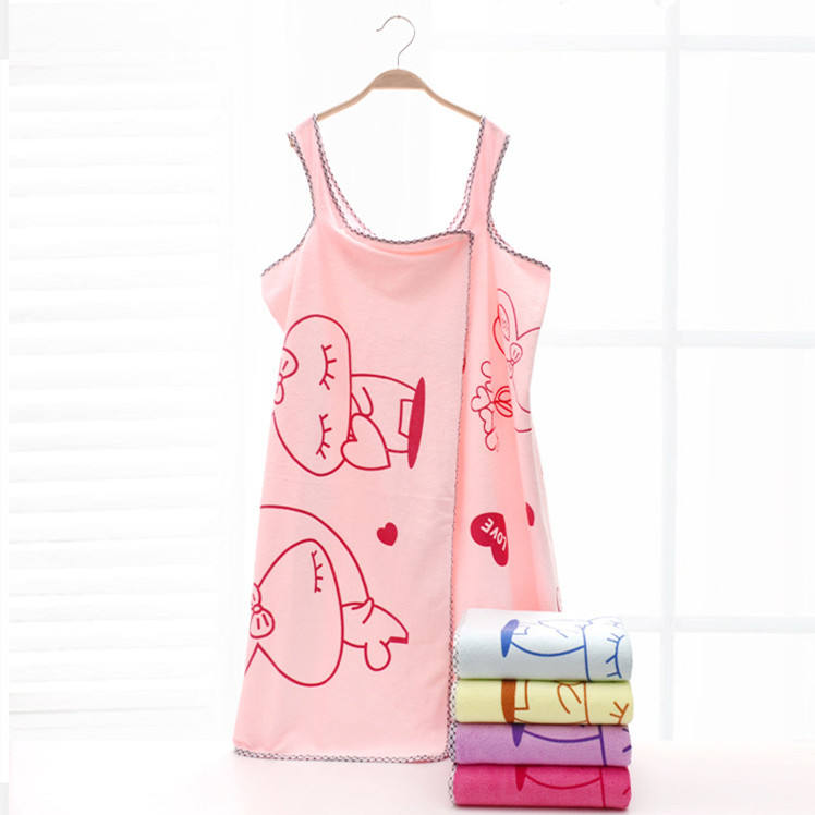Hot fashion Microfiber Ladies wearable magic sexy bath terry dresses towel