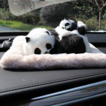 High Quality Car Air Freshener Cute Simulation Plush Dog & Cat Solid Carbon Fibre For Car Interior Accessories Ornament