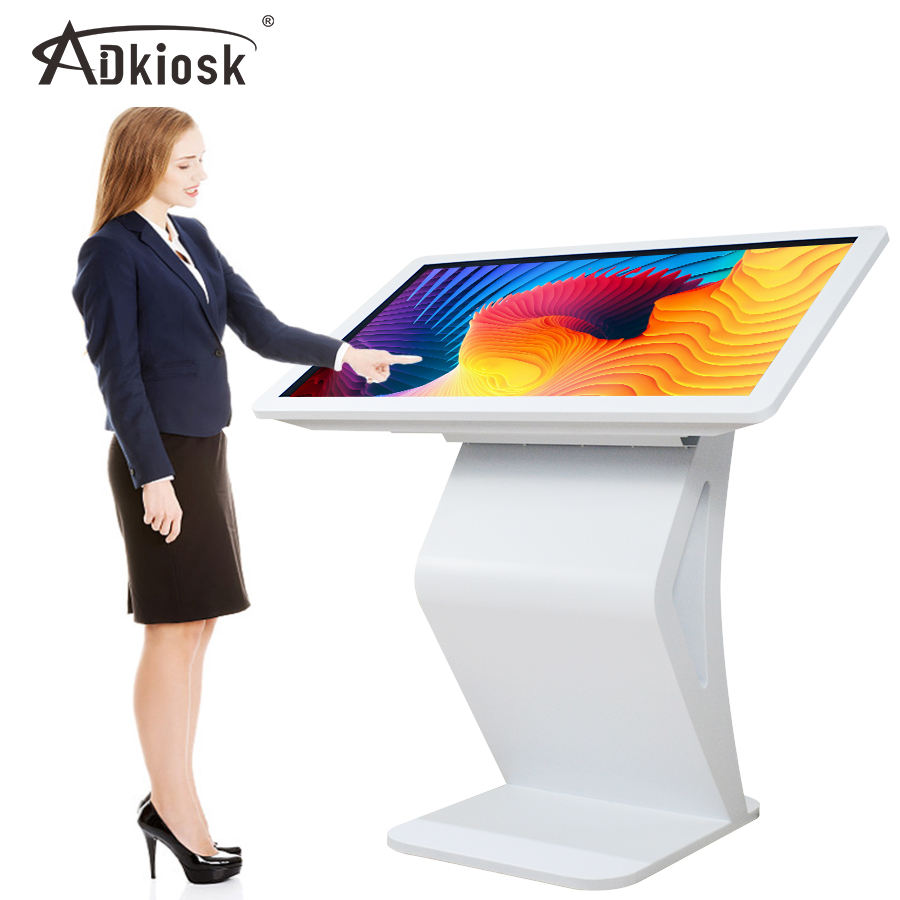 Hot LCD digital signage floor standing totem multimedia kiosk touch screen kiosk price 55 inch Advertising player