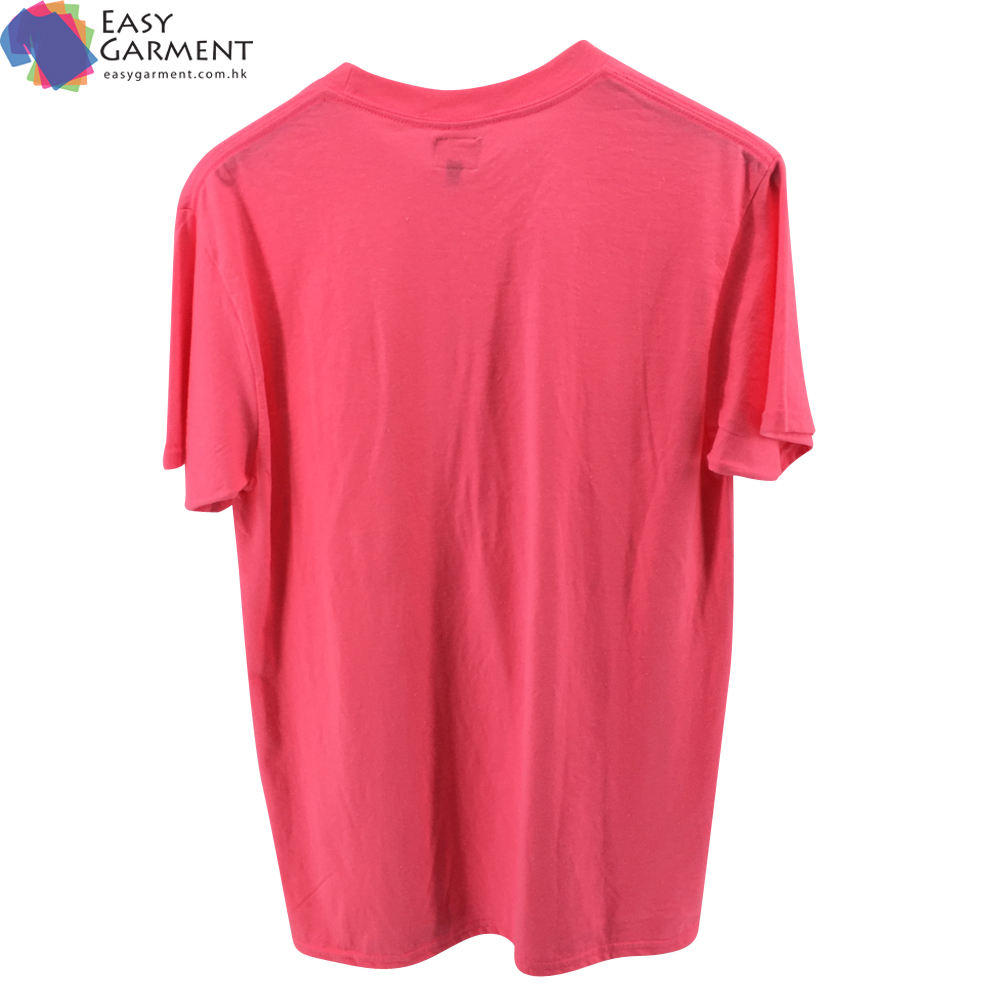 Customized soft fabric 3m reflective Tri blend short sleeve sportswear pink t shirt for Printing