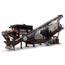 100TPH Basalt / river pebble mobile crushing plant for sale