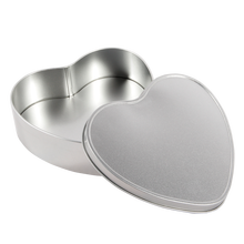 Recyclable tin plate heart shape empty tin plate metal candy box