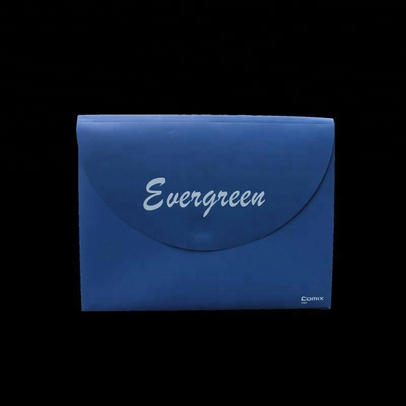 <span class=keywords><strong>Blauw</strong></span> PP Plastic A4 Document Pouch Zak met Drukknoop