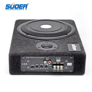 Hot Koop 8 Inch Subwoofer Auto Audio Onder Seat Slim Woofer Speaker Subwoofer Spl Actieve Power Subwoofer