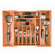Bamboo Expandable Cutlery Tray Kitchen Utensil Storage Organizer