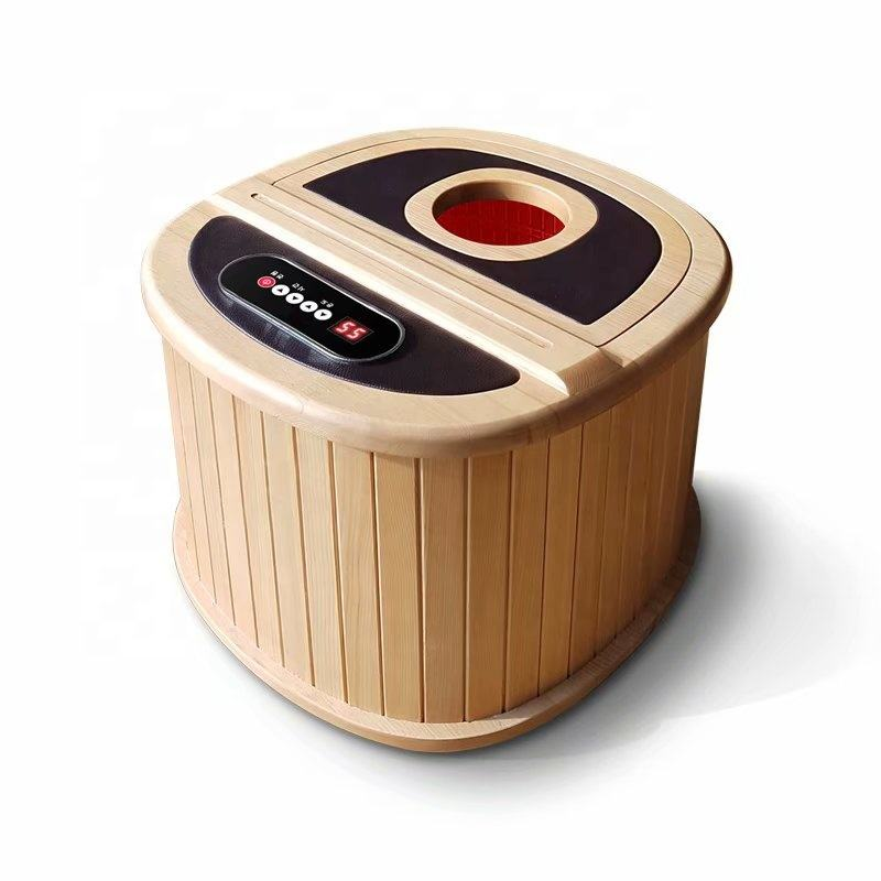 Portable Home Use Mini Sauna Foot Massager Portable Barrel Sauna Far Infrared Foot Sauna