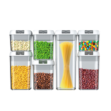 7-Piece Set BPA Free Clear Air Tight Easy Snap Open Lids  Food Containers for Pantry Organization and Storage