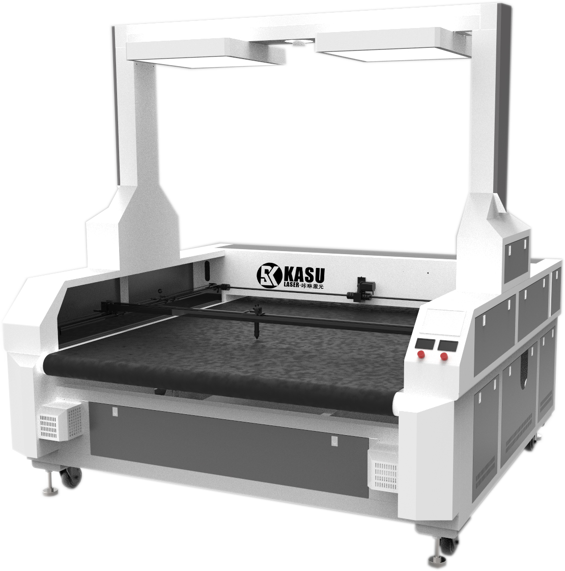 high speed CO2 CNC laser cutting machine for digital print textile