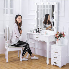 salon lighted makeup vanity make up dressing table with lighted mirror