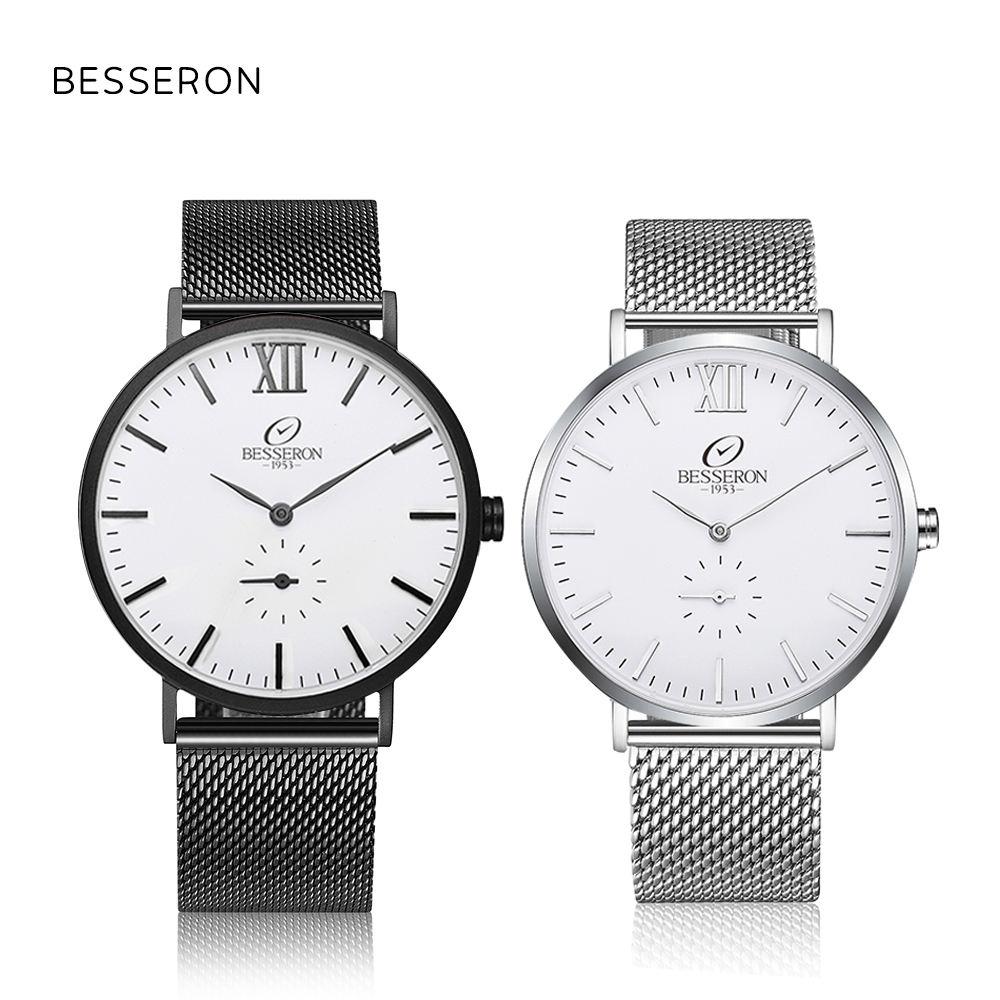 Besseron marca <span class=keywords><strong>internacional</strong></span> relojes Classic Mesh Band hombres de lujo marcas de relojes de <span class=keywords><strong>moda</strong></span>