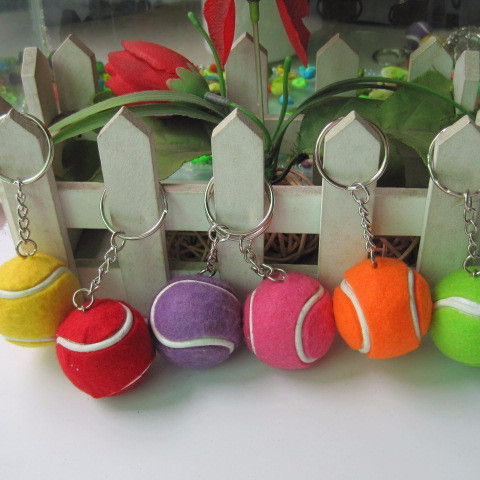 Mini cute new Tennis Ball Keychain Wholesale Color Optional Fashion