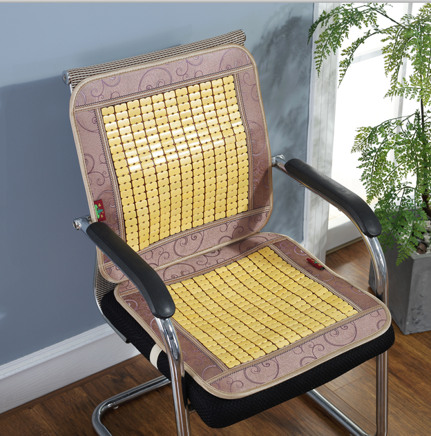Office Square Shape Bamboo Chair Mat / Bamboo Chair Cooling Seat Cushion