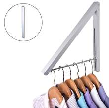 Wall Mounted Folding Clothes Hanger Drying Rack for Laundry Room Closet Storage Organization Retractable Clothes Rack