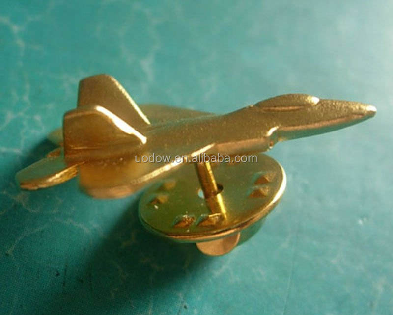 3D dell'aeroplano del metallo pin del risvolto, airplane lapel pin badge