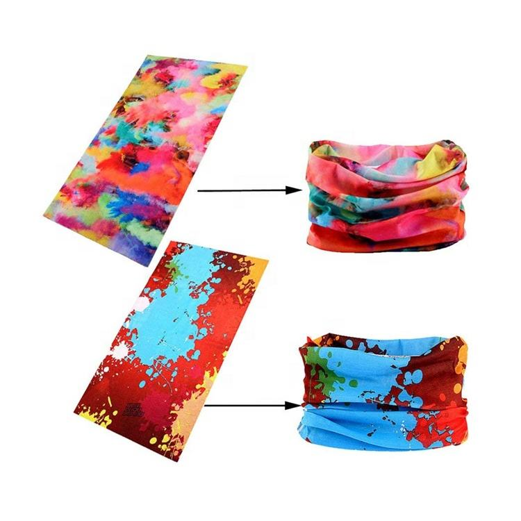 Winter Sports Sublimation 100% Cotton Cheap Outdoor Bandana Neck Tube Wholesale Custom Silk Bandana