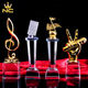 Custom Crystal Music Trophies, Crystal Microphone Trophy, The Voice Of China Crystal Trophy