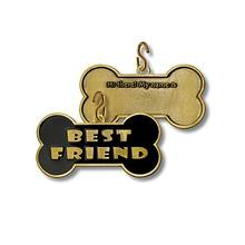 Wholesale enamel qr code best friend design metal pet tag