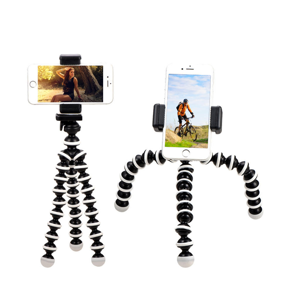 KALIOU Mini Octopus Tripod Bracket Remote Shutter Portable Flexible For Camera Mobile Phone Tripods Foldable Desktop Stand
