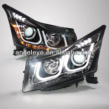 2009-2014Year Cruze LED U Style Angel Eyes Head Light with Bi Xenon Projector Lens LDV3