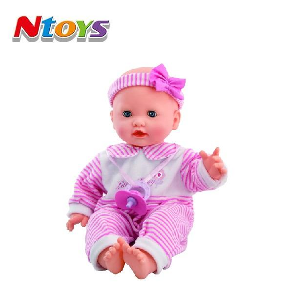 "2018 hot selling 16""Interative Baby doll, Included 3AA"