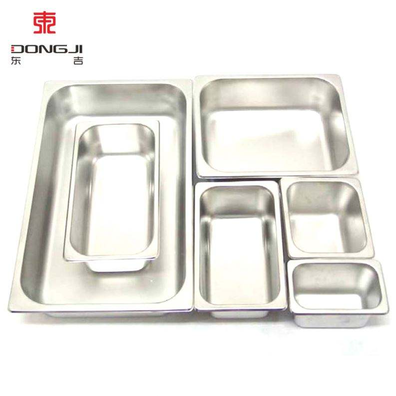 China Supplier 201# Stainless Steel GN Pan 2/4 Gastronorm Containers