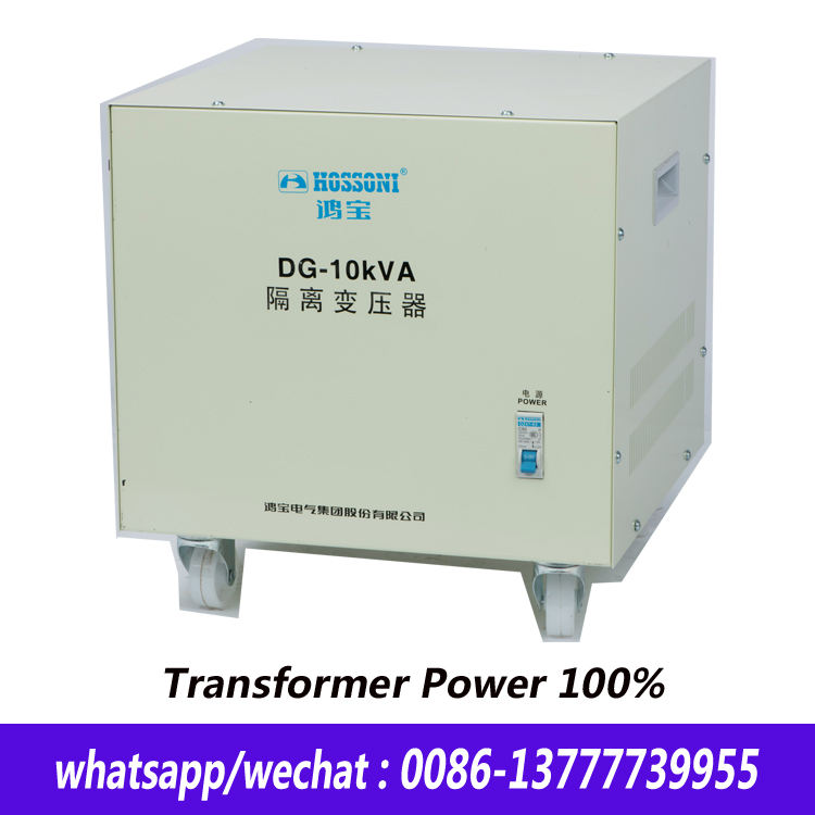 Dry Isolated Transformer ,Single Phase DG-10KVA, High quality,Power 100%