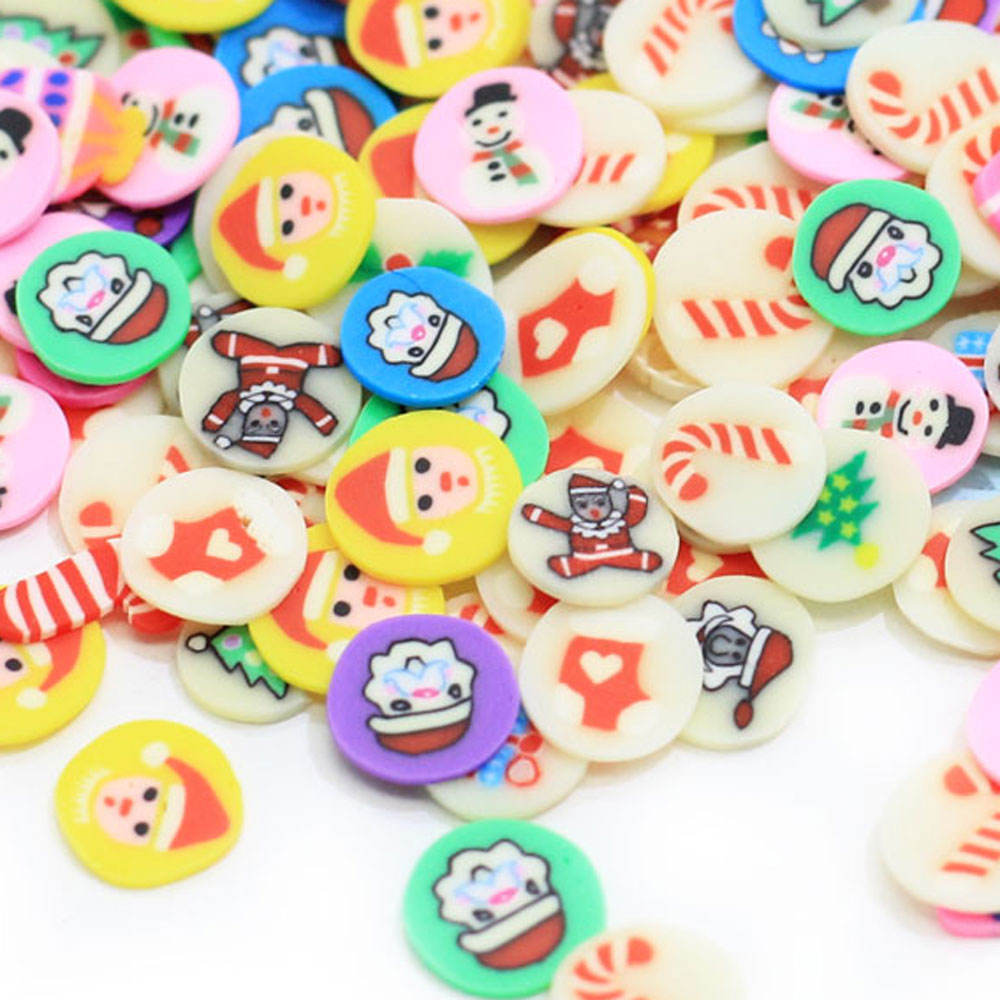 New Arrival 5mm Polymer Clay Sprinkles Christmas For Crafts Making DIY