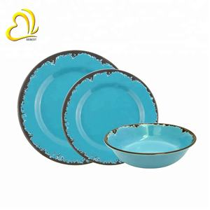 High quality blue melamine dinnerware sets melamine dinner set melamine tableware