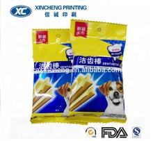 customized dog snacks tooth cleaning bone chew stick pouch bag pet food packaging