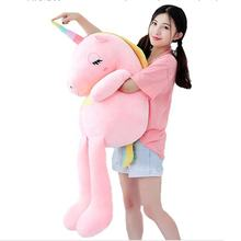 New Large Soft Unicorn Stuffed Animal Plush Toy  Girl Gift Children's Toy Sofa Pillow Cushion Home Decoration