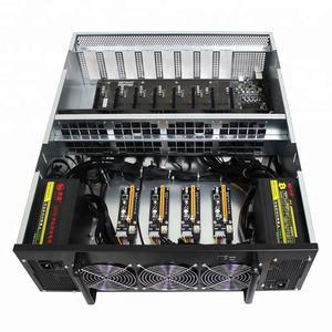 Stock LTC ZEC ETH Miner 12 GPU Mining Machine With B250 Motherboard + Case + 7*Fans +DDR4 Ram 4GB + 128GB SSD + 2*PSU +4*Risers