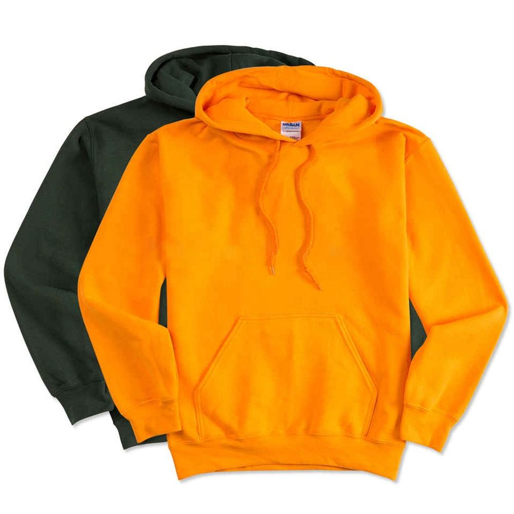 2020 trending products OEM zip up orange hoodie unisex for customer own design