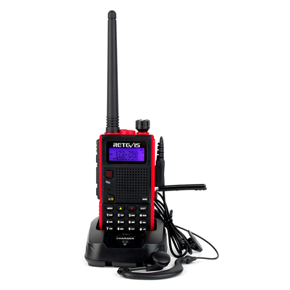 Retevis RT5 7 W 128CH DTMF Analog Walkie Talkie Für outdoor Dual Band <span class=keywords><strong>VHF</strong></span>/UHF136-174/400-520 MHz Scan VOX FM 1750Hz Two way Radio