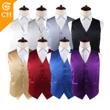 Latest Custom High Quality Mens Formal Wedding Coloured White Waistcoats
