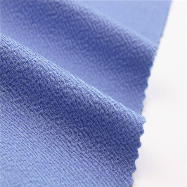 Textile high quality Polyester Spandex Jacquard liverpool heavy moss crepe fabric for garments