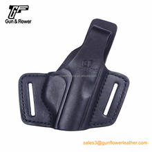 Pancake Concealed OWB Leather Gun Holster For PPK/64 Custom for M1911/Glock 17 19 /PPK Pistol