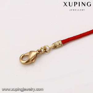 74713 Xuping new designer simple circle popular red string gold chains bracelet for children