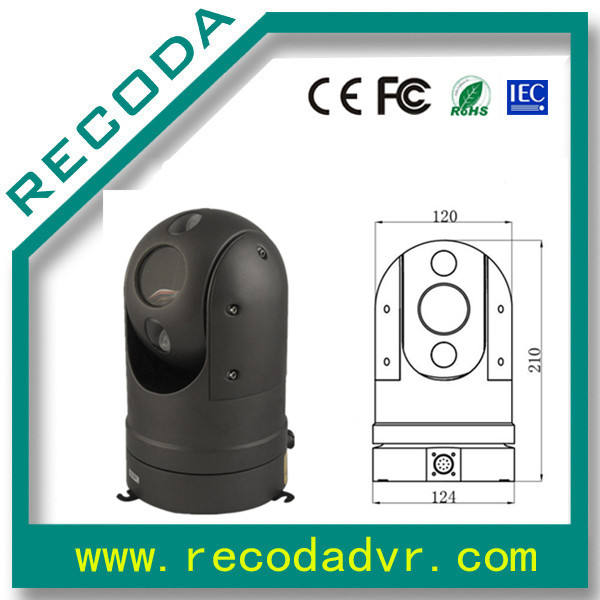 Tàu camera cctv xe ptz zoom 36x 60 M night vision IR
