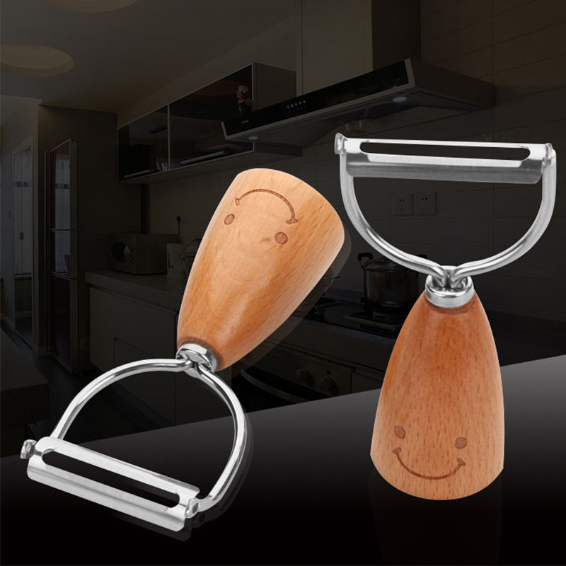 Wooden handle Vegetable Potatoe Peeler and Grater