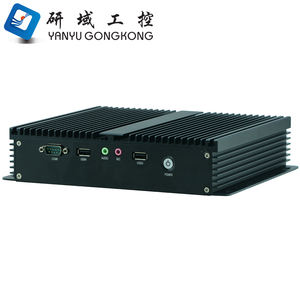 Cheap fanless embedded barebone system mini industrial pc with quad core J1900 CPU i3 i5 i7 processor