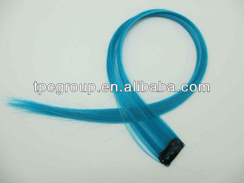 dark blue hair extention exported to Spanish