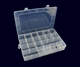Organizer Plastic Plastic Compartment Storage Box Jewelry Compartment Organizer Multi Function PP Transparent Lid Clear Foldable Plastic Storage Fishing Box