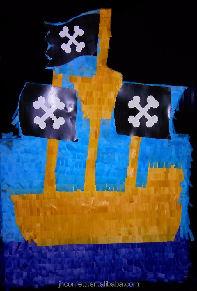 Piratenschiff geformte papier pinata