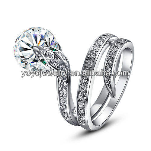 Classic Design Jewelry Ring High Polished Popular Alloy with Crystal Ring Low Price Wholesale
