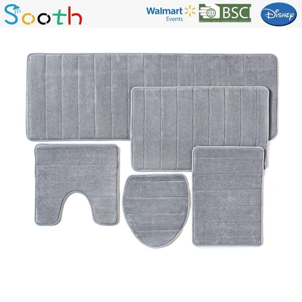 Bathroom Rug Set, 5 Piece Bath Rug Sets