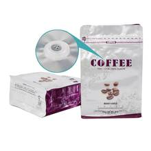Aluminum Foil Coffee Bags with Valve Stand Up Zipper Resealable coffee bean bag packaging