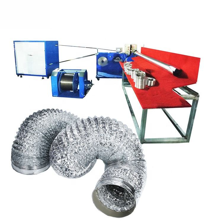 HVAC automatic Aluminum flexible air duct forming making machine