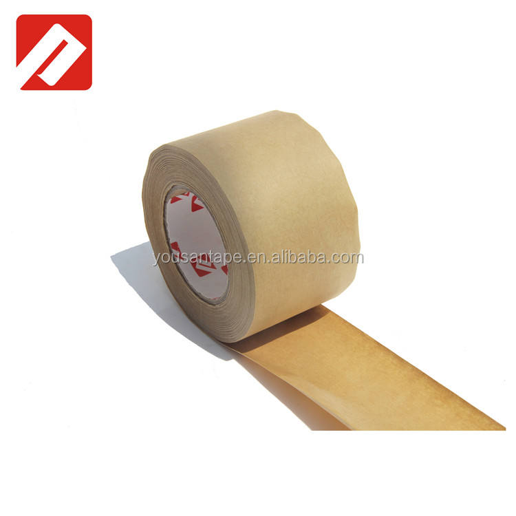 Water Active Warning Fiberglass Reinforced Security Brown Kraft Gummed Paper Tape with free sample
