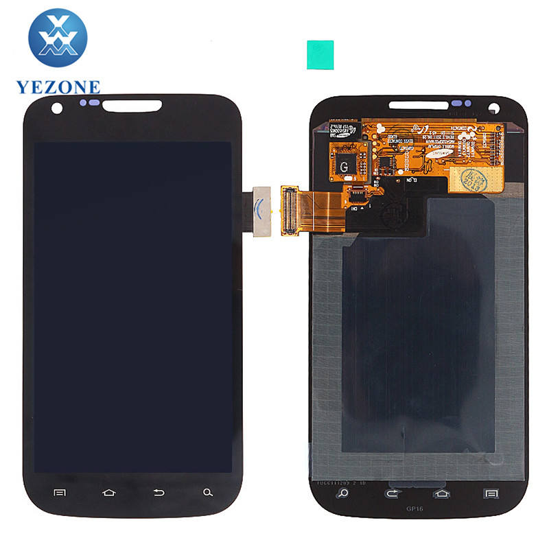 Stock Black 480 x 800 Resolution LCD Touch Display For Samsung Galaxy S2 T989 LCD Screen With Digitizer