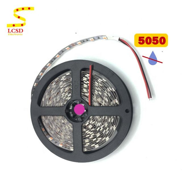 12V 5050 SMD Pink Purple 365nm uv led strip Nonwaterproof IP20